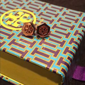 Rose Gold Tory Burch Studs